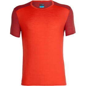 Icebreaker Amplify SS Crewe Shirt Men chili red/sienna